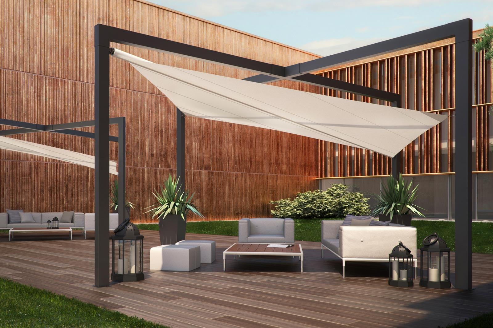 Tenda A Vela Per Terrazzo : Vendita vele ombreggianti realtendapescara